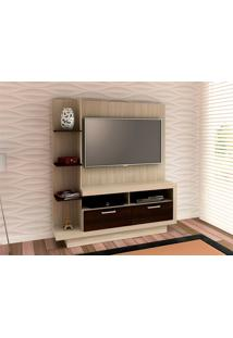 Estante Para Tv Até 50 Polegadas Home Theater Tecno Mobili - Fresno/Tabaco - Multistock