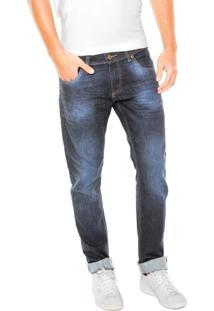 Calça Jeans Doc Dog Slim Pespontos Azul