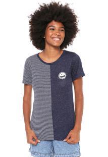 Camiseta Volcom Coldershoulder Azul-Marinho
