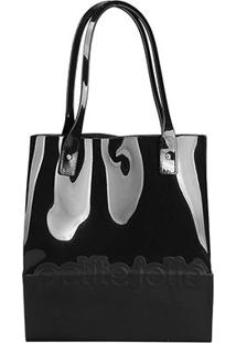 Bolsa Petite Jolie Shopper Feminina - Feminino-Preto