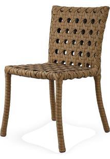 Cadeira Lone Estrutura Aluminio Revestido Em Fibra Sintetica Cor Madeira - 44544 - Sun House