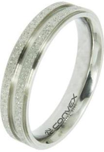 Aliança De Compromisso Magnet S Convex - Unissex-Prata