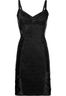 Dolce & Gabbana Vestido Com Contraste - Preto