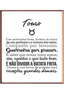 Quadro Decorativo Touro- Ros㪠Gold & Branco- 50X50Cmarte Prã³Pria