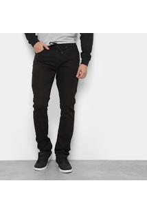 Calça Quiksilver Skate Sarja Black Masculina - Masculino-Preto