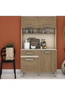 Armário Para Cozinha 3 Portas Com Tampo Briz Fendi Ii/Rústico