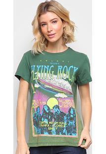 Camiseta Colcci Básica Filing Rock Feminina - Feminino-Verde Escuro