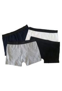 Cueca Boxer Viscose El. Perso Plus Size Natural Confort