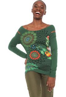 Blusa Desigual Tricot Marieta Verde