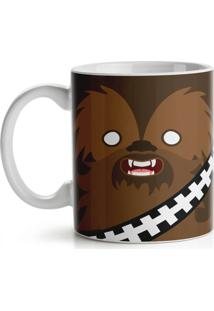 Caneca Geek Side Faces - Chill Bacca Geek10 Marrom