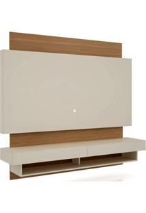 Rack Com Painel Suspenso Bulgaria 1,80 Mt Cor Off White Com Freijo - 39823 - Sun House