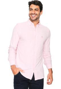Camisa Polo Wear Reta Flamê Rosa