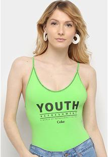 Body Coca-Cola Youth Refreshment - Feminino-Verde Escuro