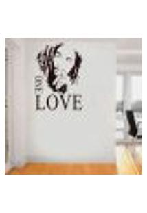 Adesivo De Parede Bob Marley One Love - G 68X48Cm