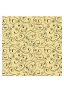 Papel De Parede Adesivo Arabesco Amarelo 1446 Rolo 0,58X3M