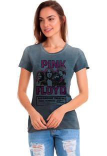 Camiseta Estonada Joss Estampada Pink Floyd Azul