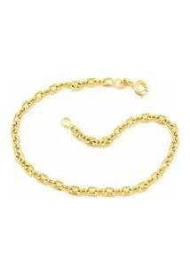 Pulseira Modelo Francesa Tudo Joias Folheada Ouro Dourada