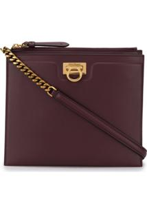 Salvatore Ferragamo Trifolio Square Crossbody Bag - Roxo