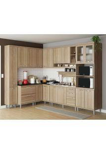 Cozinha Compacta Sem Tampo 9 Peças 5802-S2 Sicília - Multimóveis - Argila Acetinado