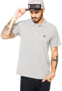 Camisa Polo Dc Shoes Staple Cinza