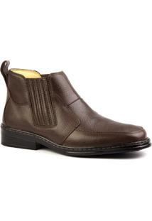 Botina Masculino 915 Em Couro Floater Doctor Shoes - Masculino-Marrom