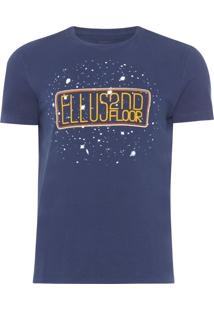 Camiseta Masculina Basic Space - Azul