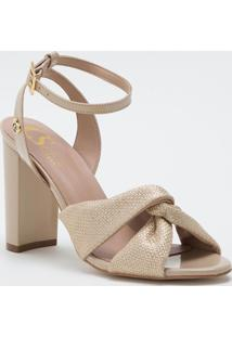 Sandália Fashion Glacê Cs Club Dourado - Tricae