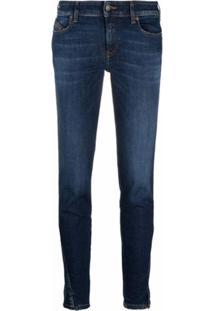 Diesel D-Jevel Low-Rise Jeans - Azul