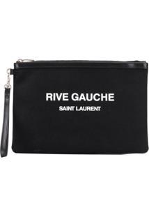 Saint Laurent Carteira Com Estampa De Logo - Preto