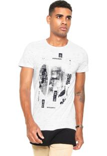 Camiseta Malwee Estampada Branca/Preta