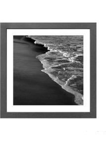 Quadro Decorativo Beach 33X33Cm Cinza Infinity
