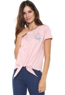 Camiseta Fiveblu Nó Rosa