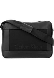 Bolsa Carteiro Calvin Klein Masculina - Masculino-Preto