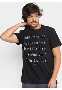 Camiseta Reserva Gola Careca Quem Procura Acha Masculina - Masculino