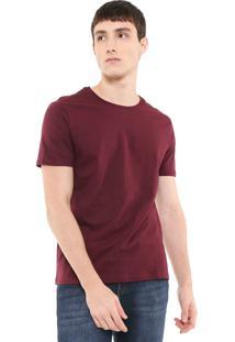 Camiseta Calvin Klein Jeans Estampada Vinho