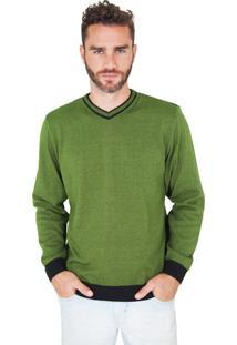 Suéter G'Dom Verde E Preto