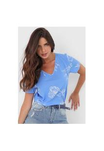 Blusa Cativa Floral Azul