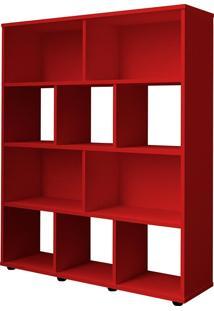 Estante Book - Artely Vermelho