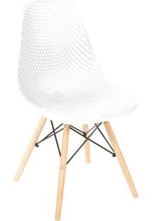 Cadeira Eames Colmeia- Branca & Bege Claro- 82,5X46,Or Design