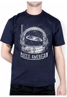 Camiseta Bleed American Galaxy Marinho