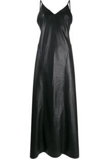 Nanushka Vestido Maxi - Preto