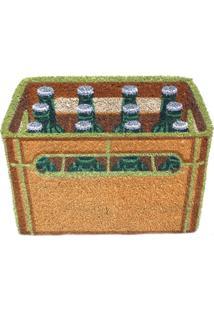 Capacho Urban Fibra De Coco Beer Crate 60X46Cm Laranja
