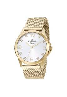 Relógio Feminino Champion Cn24093B Analógico + Conjunto De Semijoias | Champion | Dourado | U