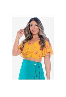 Blusa Melissa • Amarelo Floral • Use Fashionista