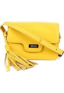 Bolsa Santa Lolla Transversal Com Tassel - Feminino-Amarelo