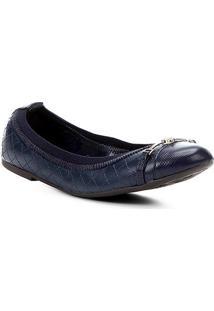Sapatilha Couro Shoestock Matelassê Bico Redondo Feminina - Feminino