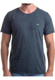 Camiseta Clothis Corrosion Blue Estonada Respingos Masculina - Masculino-Chumbo+Azul Claro
