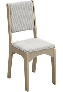 Cadeira Estofada 100% Mdf Ca19/2 Carvalho/Geométrico - Dalla Costa