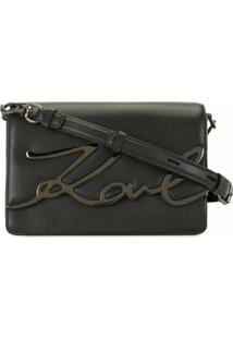 Karl Lagerfeld K/Signature Shoulder Bag - Preto