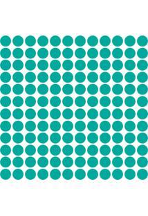 Adesivo De Parede Bolinhas Azul Tiffany 144Un - Tricae